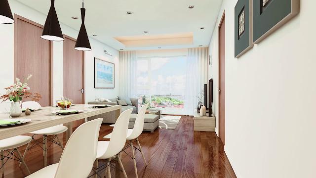 Thiết kế phòng khách tại Eco Green City