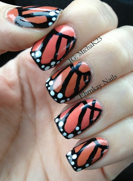 ehmkay nails monarch butterfly