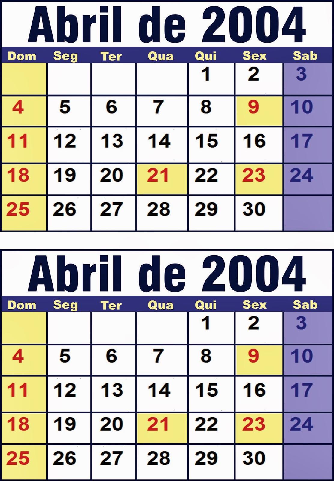 21 de abril 2004: