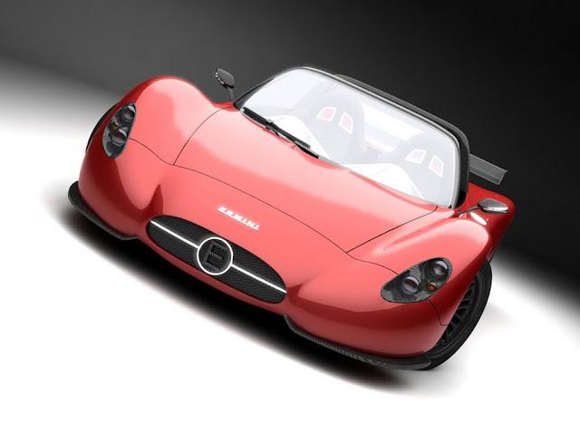 "Concept+cars-Ermini-686-The design of the compact ""barchetta"" is being developed by a team at Ermini Automobili Italia and designer Giulio Cappellini"