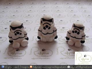 Clon o soldado imperial Belen de Star Wars hecho con Fimo