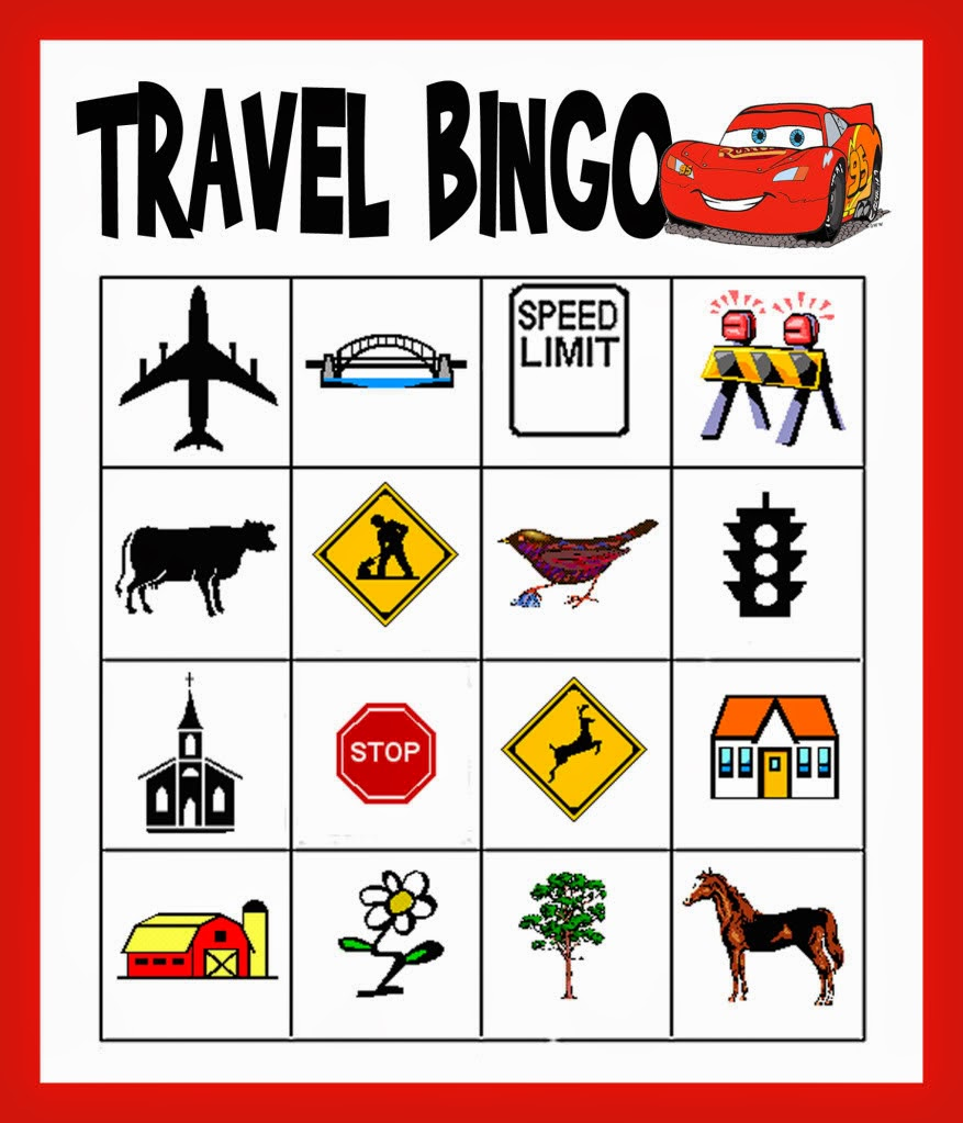 It is a picture of Resource Printable Travel Bingo