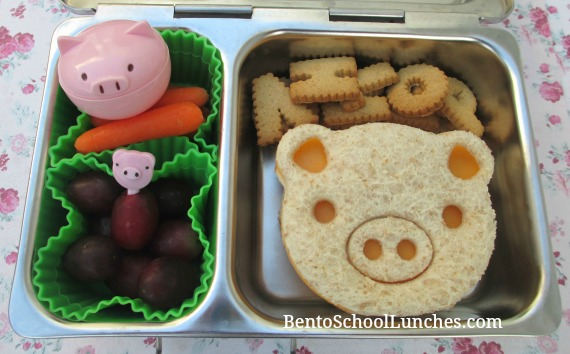 Pig lunch, CuteZCute, bentoschoollunches