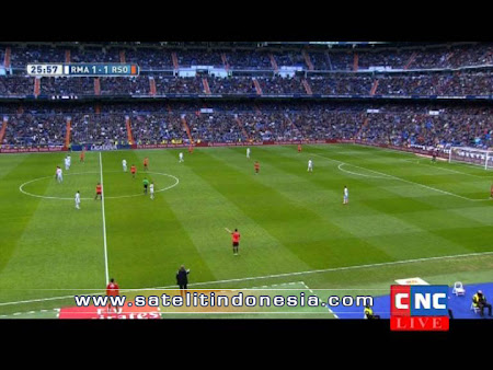 TV yang menayangkan Real Madrid vs Real Sociedad
