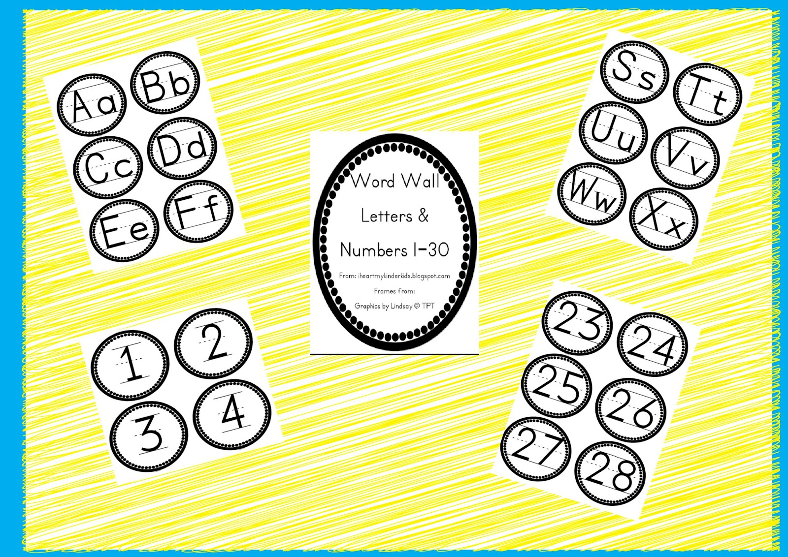 Word Wall Letters Classroom Freebies Too Polka Dot Word Wall Letters And Numbers 130
