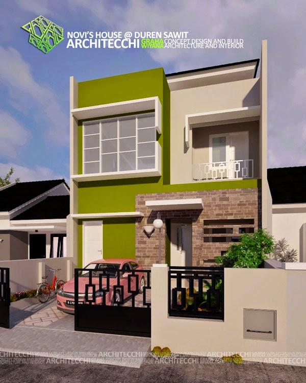Desain Rumah Minimalis 2 Lantai Lebar 8 Meter Gambar