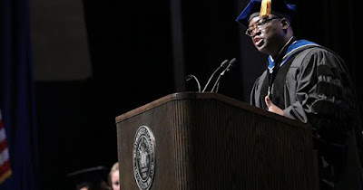 Dr Akande is 1st Black president of Westminster college St Louis.