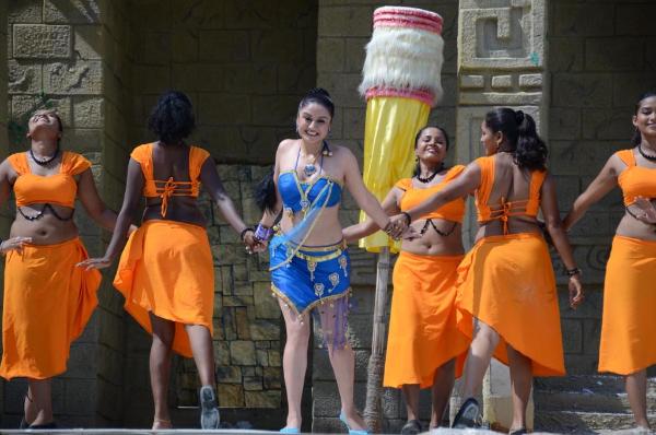 Sonia Agarwal Hot in Kathanayaki Telugu Movie Spicy Stills