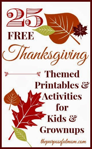 25 free thanksgiving themed printables for kids and grownups for Religious crafts for adults