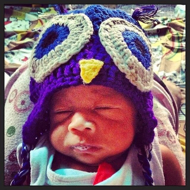 Owl Crochet Beanie