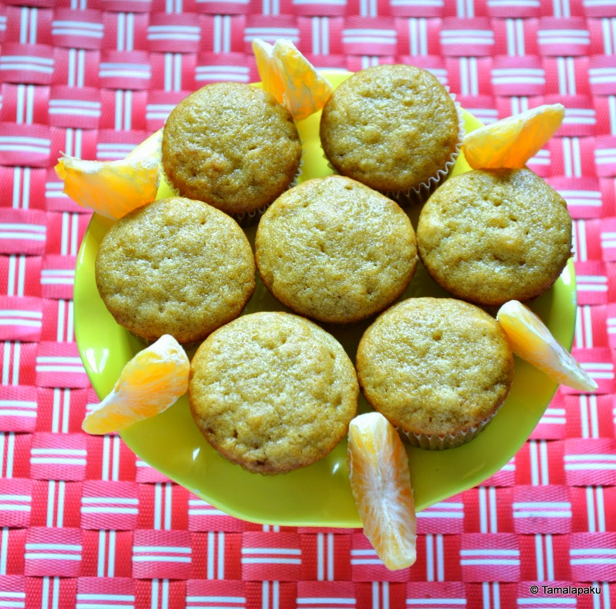 Eggless Cinnamon Orange Cupcake