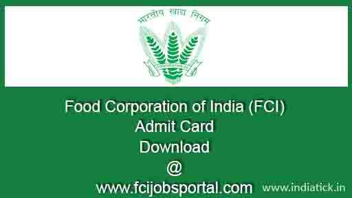 FCI MT Admit Card 2015 Food Corporation of India Management Trainee Manager written exam hall ticket call letter all zone download pdf fcijobsportal.com