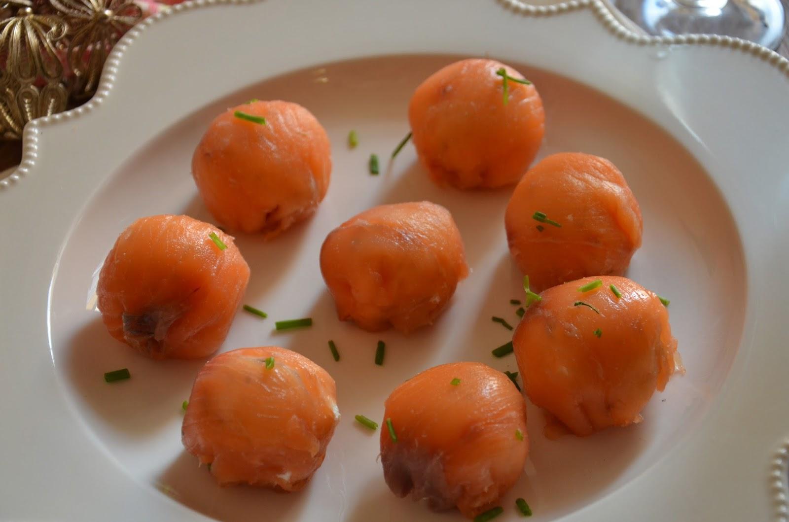 Bocaditos de salm n y queso fresco aperitivo - Aperitivos de salmon ahumado ...
