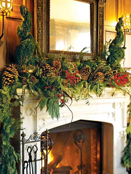 alamodeus: Holiday Project: The decorated mantle ...