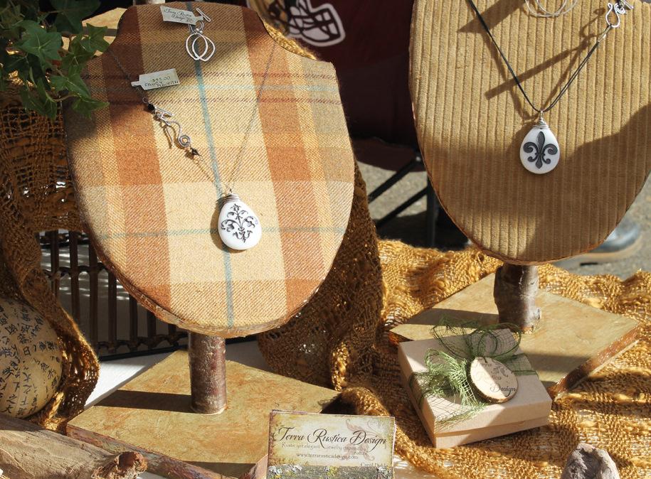 Terra Rustica Design Unique Craft Fair Jewelry Stands