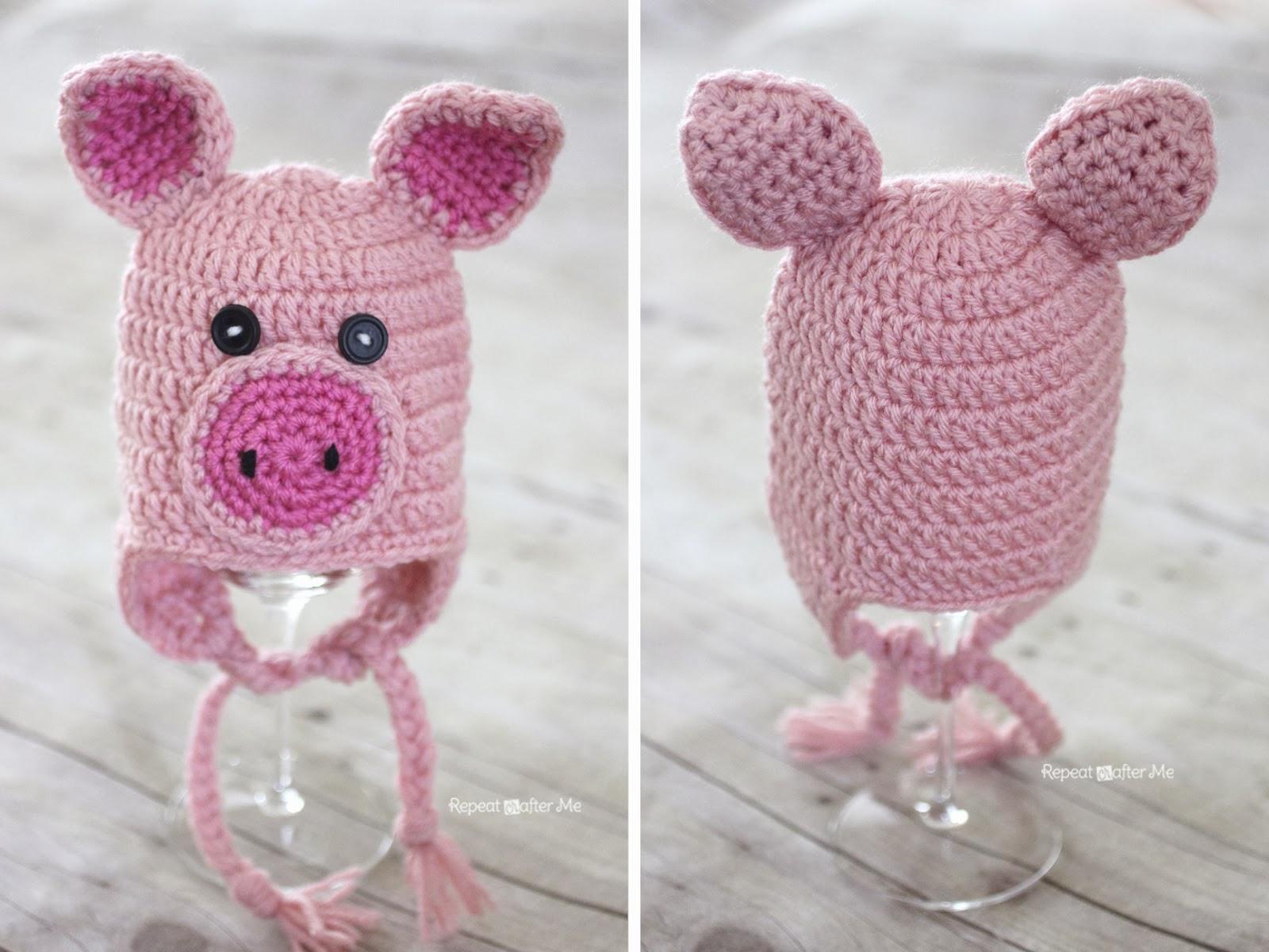 Crochet Pattern Pig Hat : Crochet Pig Hat Pattern Repeat Crafter Me Bloglovin