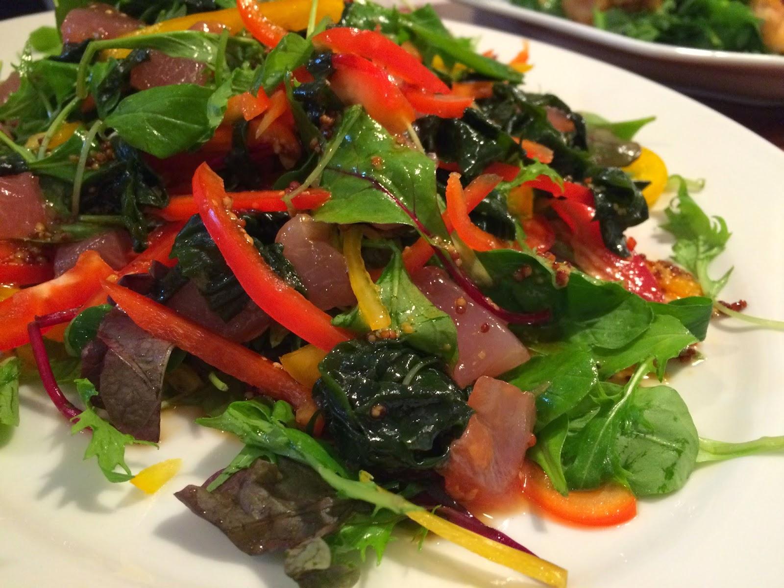 千代田区に出張シェフ。:鮮魚とリーフのサラダ