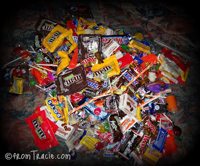 Big Pile Of Halloween Candy