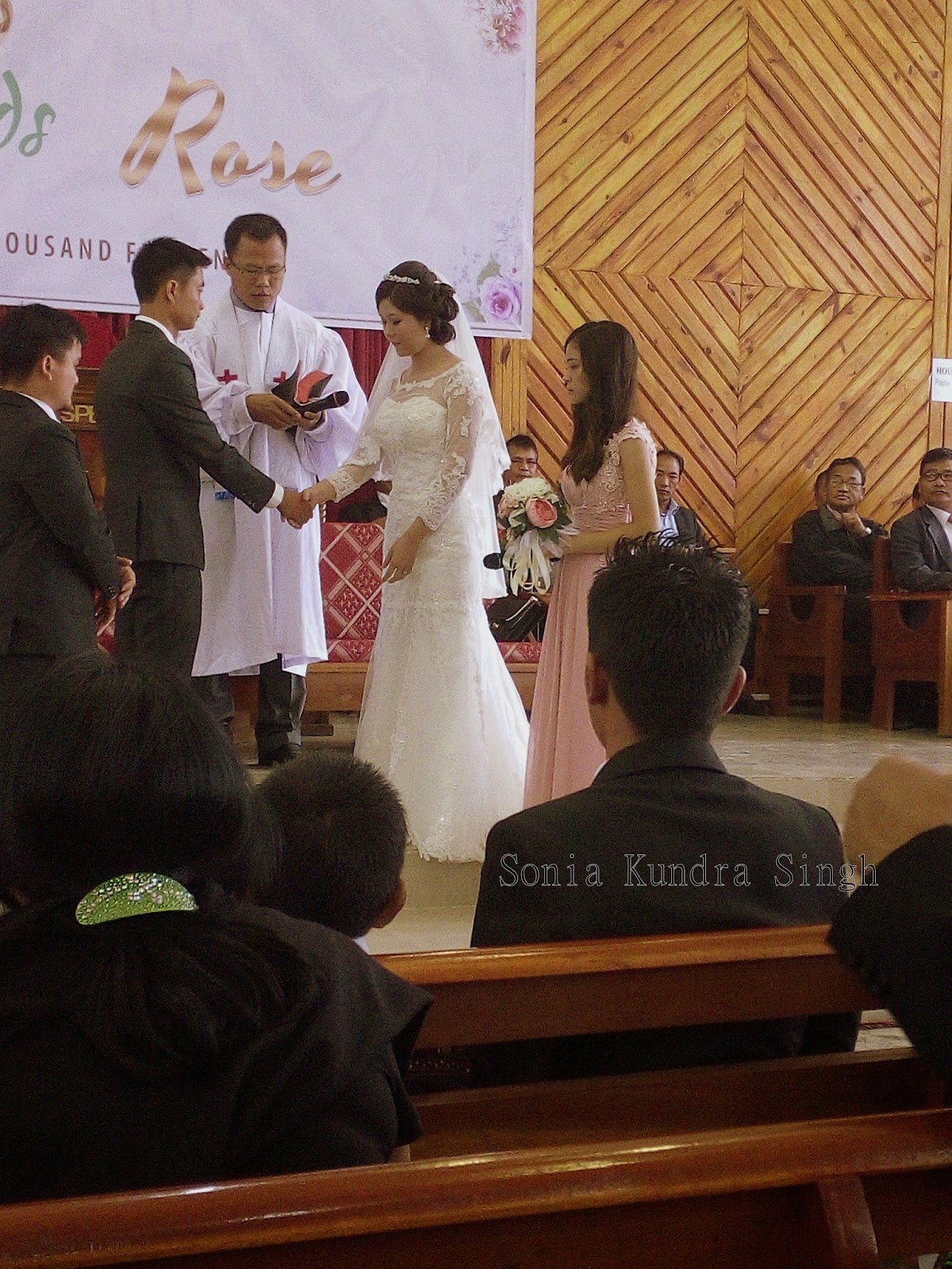 half a cup of happyness a christian manipuri wedding a photo essay pledging to each other