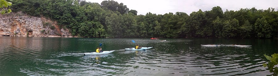 Paddlers on Mead's Lake