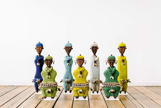 Safari Fusion blog | Namji Dolls are back! | Decorative African fertility dolls adorned with beads and cowrie shells by Safari Fusion