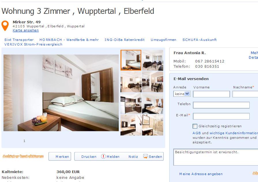 Wohnung 3 zimmer informationen ber wohnungsbetrug for 2 zimmer wohnung wuppertal