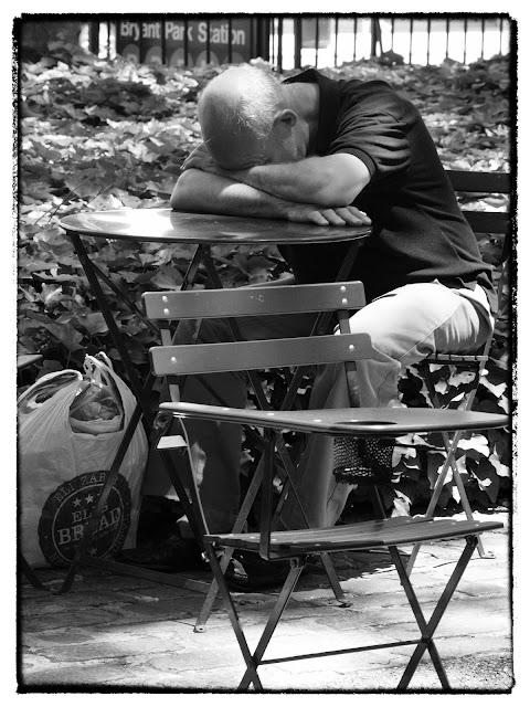 Homeless?, Bryant Park, New York City