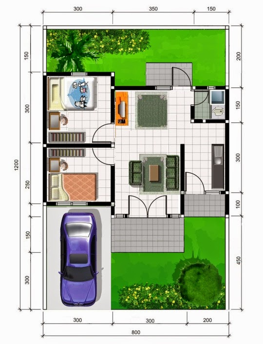 denah rumah minimalis type 45, model rumah minimalis type 45