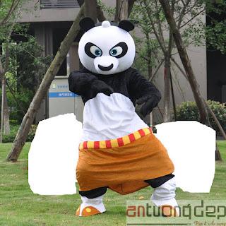 cho thuê mascot gấu panda