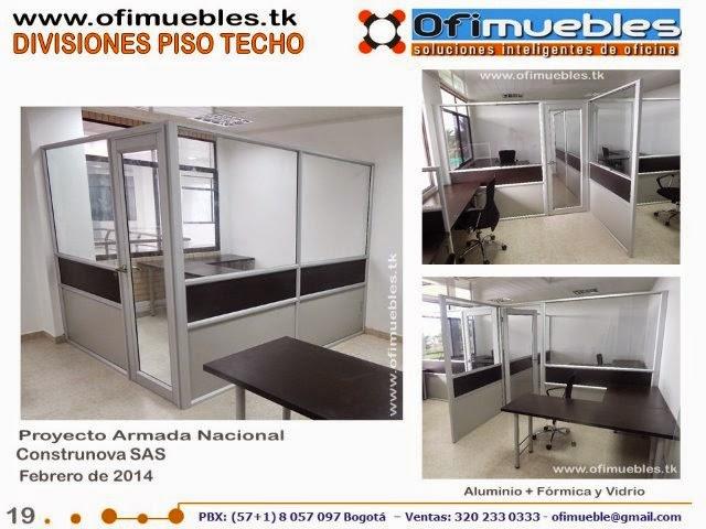 Ofimuebles colombia muebles para oficina divisiones for Muebles de oficina vidrio