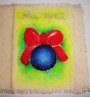 pintura em tecido cartão de natal passo a passo