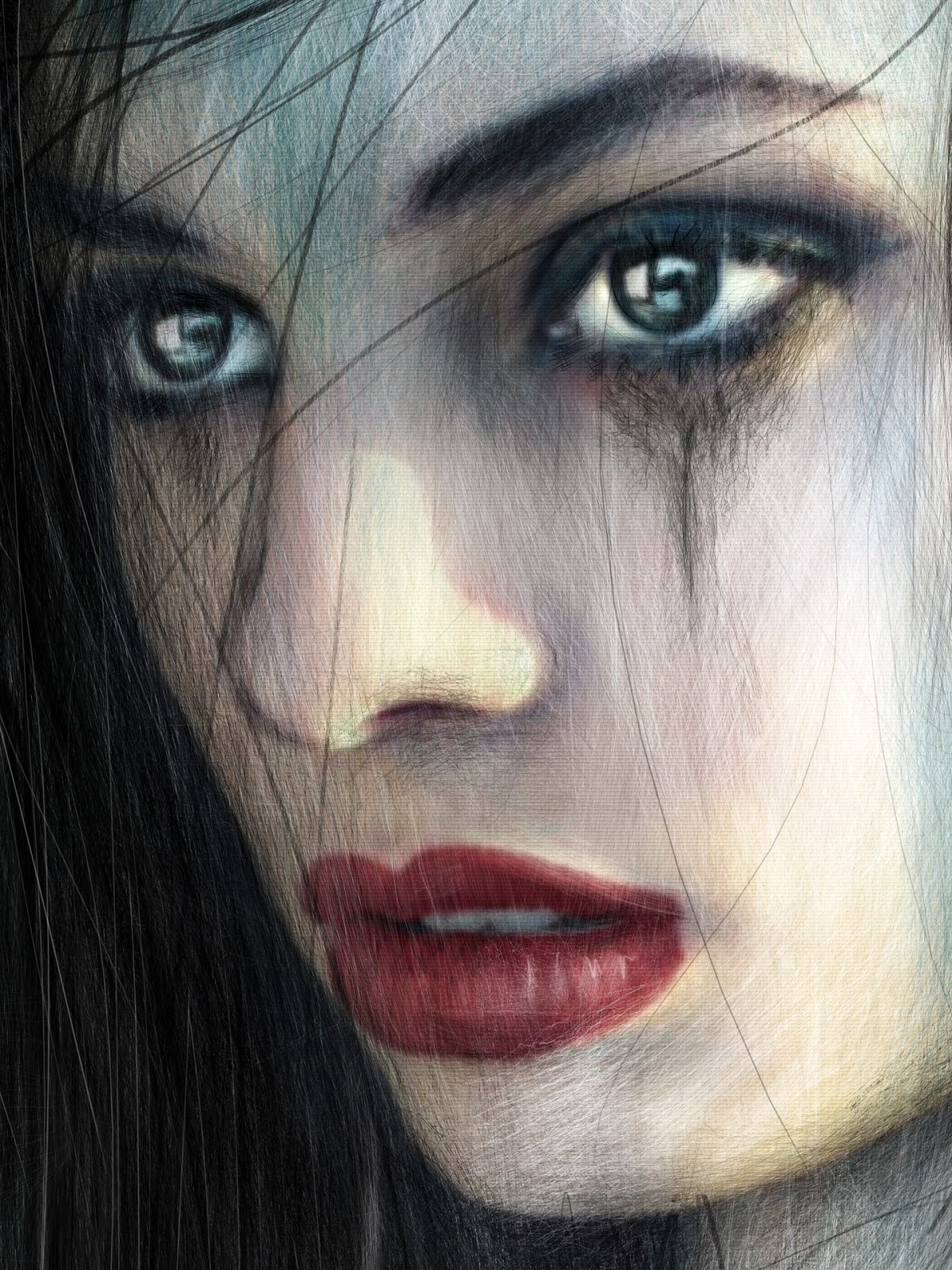 Gothic portrait of a beautiful woman