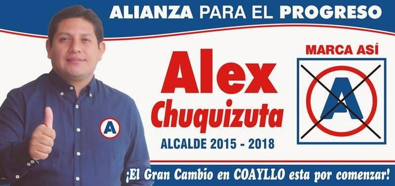 Alex Chuquizuta alcalde de Coayllo / 2015 - 2018