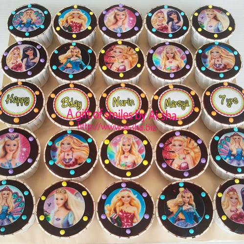 Birthday Cupcakes Edible Image Barbie Ai-sha Puchong Jaya