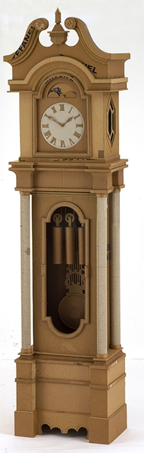 20-Grandfather-Clock-Life-Size-Chris-Gilmour-Cardboard-Sculptures-www-designstack-co