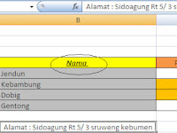 Cara memberi format yang sama pada table atau teks pada Excel