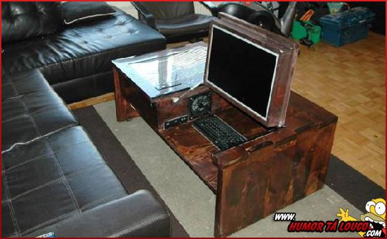 Como surpreender os seus amigos Nerds - CaseMod: Mesa com pc embutido - Neon para CPU