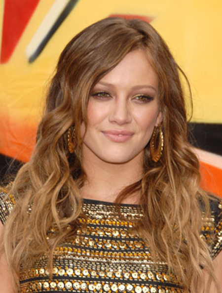 Hilary Duff With Amber Waves Hairstyle