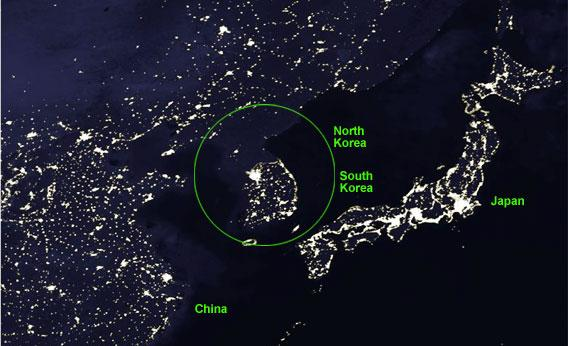 Jeff weintraub north korea the black hole lest one imagine that north korea has simply found a way to solve the problem of light pollution the economic contrast between the two koreas is also gumiabroncs Image collections