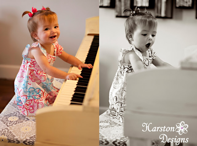 baby playing piano