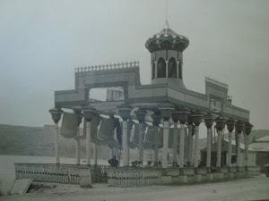 antiguo kiosko en la playa, años 30
