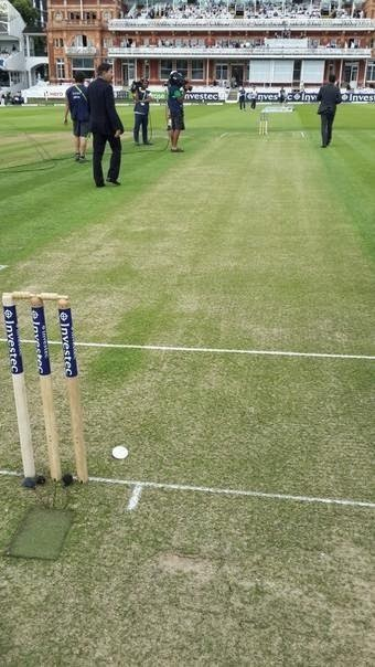 Green pitch prepared at lords for india vs england match