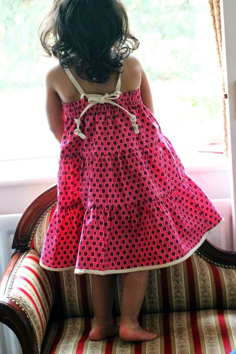 How to sew tie back dress