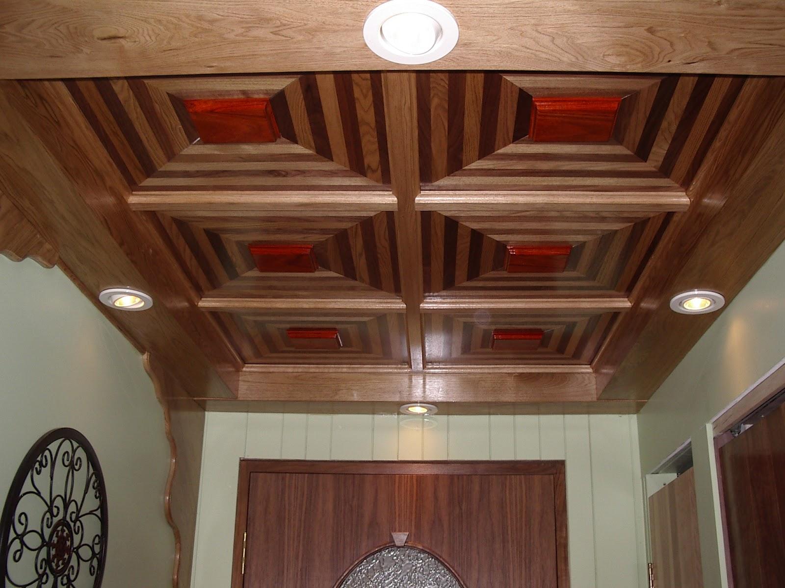 Menuiserie St M Thode Plafond Suspendu En Noyer Et En Padouk