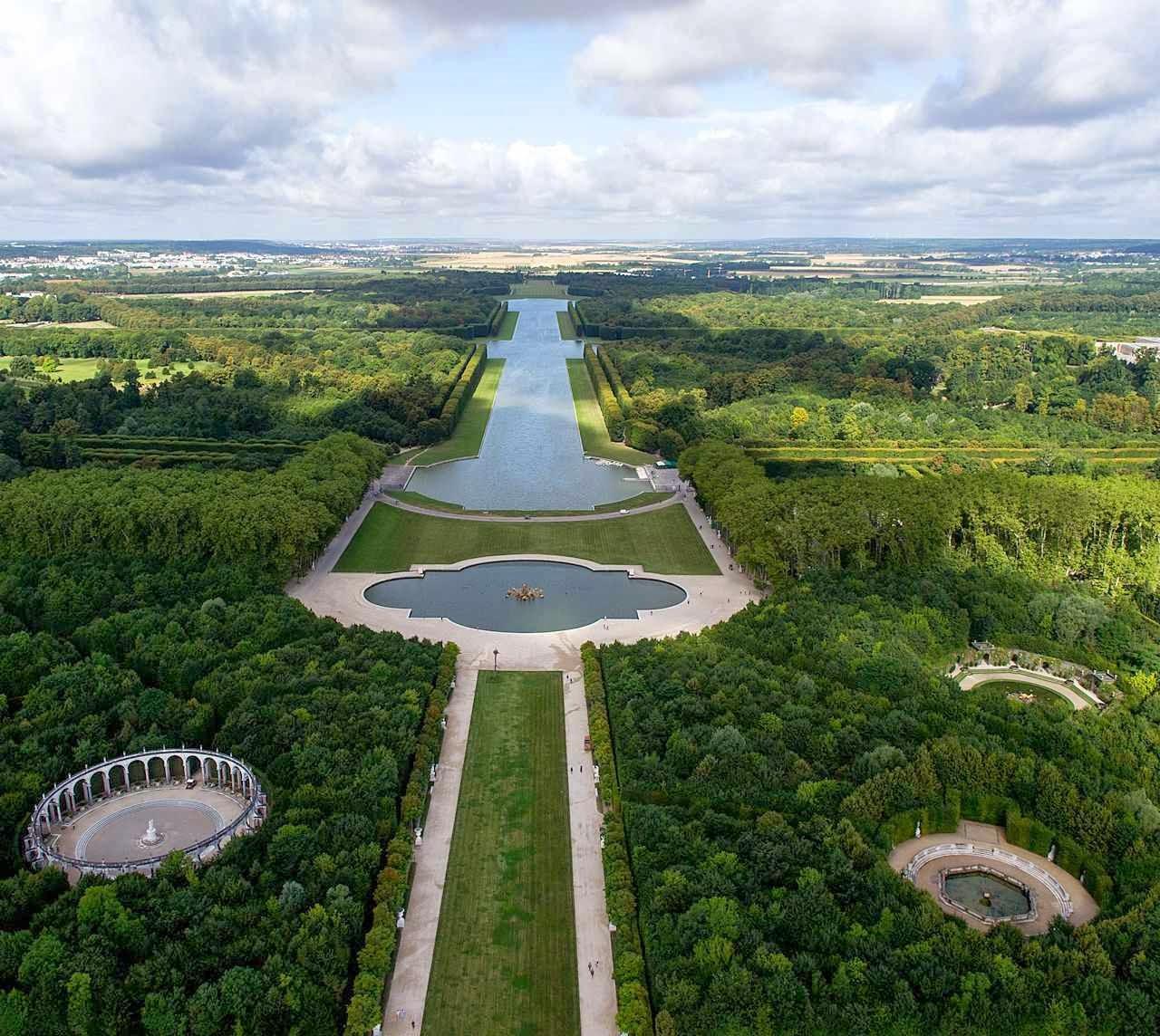 Versailles vista aérea dos jardins
