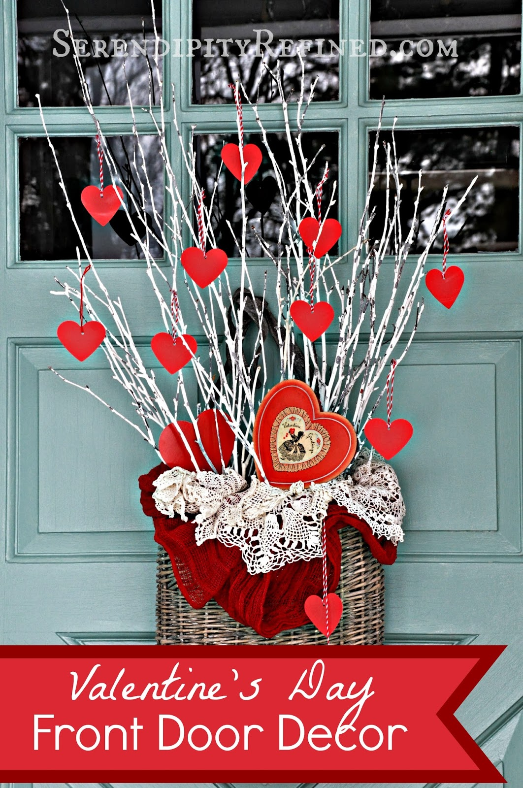 valentine wreaths for your front doorSerendipity Refined Blog Simple DIY Valentines Day Door Decor