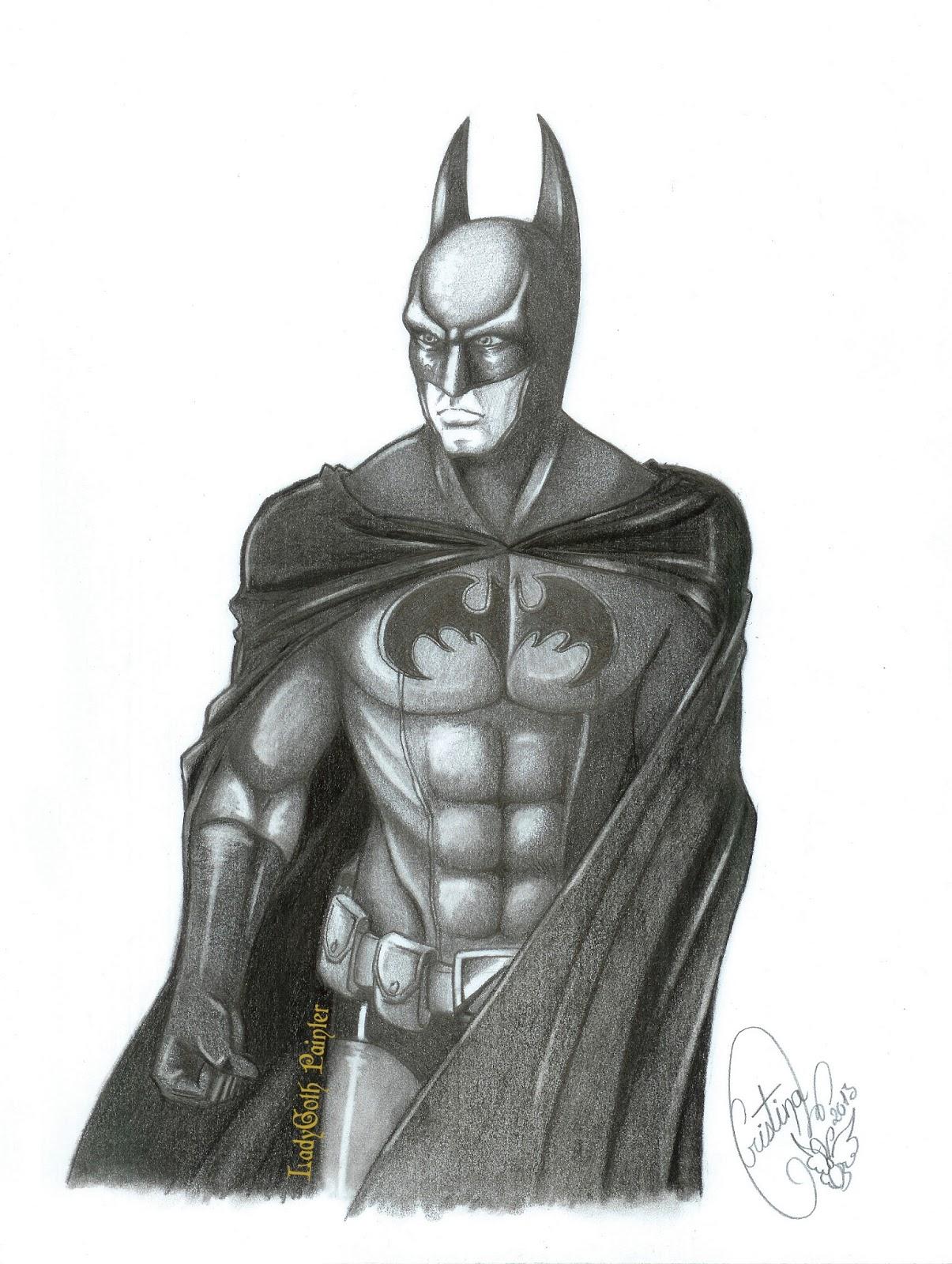 LadyGoth Painter: Batman a Lapiz - dibujo versionado -