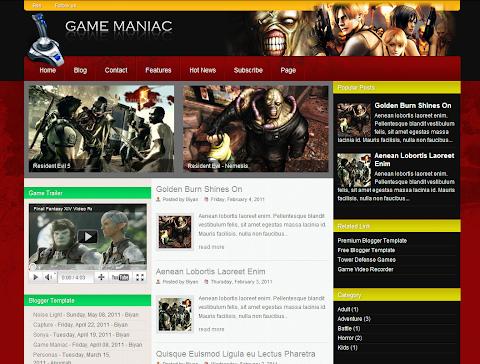 Game Maniac Blogger Theme