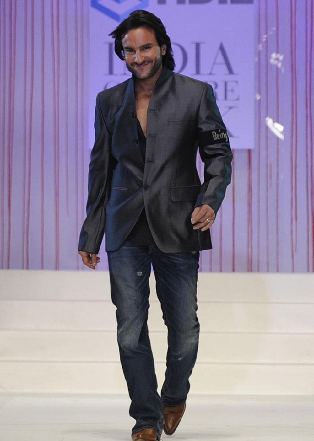 Saif ali khan fashion show