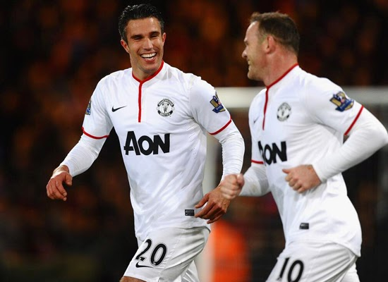 Van Persie+Wayne Rooney Man United vs Crystal Palace 2014